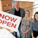 Rob Kilner, Store Manager; Charlotte Nutting, FBC Manby Bowdler; and Lizzy McNally, Cooper Green Pooks