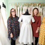 Left to Right: Stephanie Garrigton Owner Bridal Reloved, Lizzy McNally Surveyor CGP, Charlotte Nutting Associate FBC Manby Bowdler